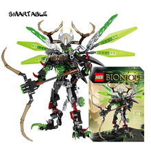 Smartable BIONICLE 261pcs Umarak Uxar figures Building Block Toys For Boys Compatible All Brands 71310+71300 BIONICLE Toys Gift