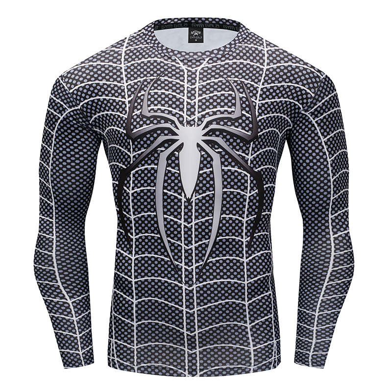 Spiderman 3D Men's T-shirt Compression Shirt work out Fitness Stretch T-shirt 2018 Summer quick-drying fitness Leisure T-shirt