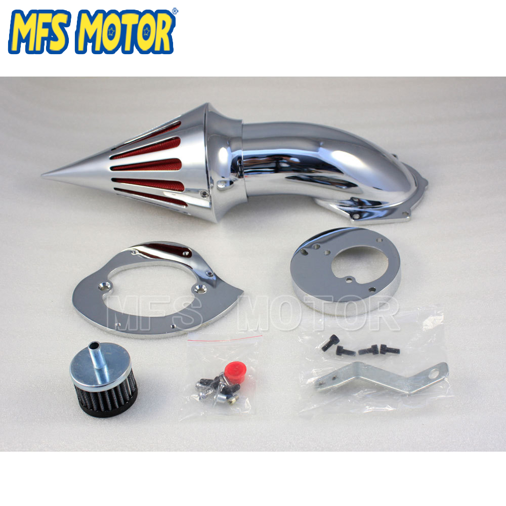 Motorcycle Part NEW Chrome Spike Air Cleaner Filter Kit for Honda VTX 1300 All Year