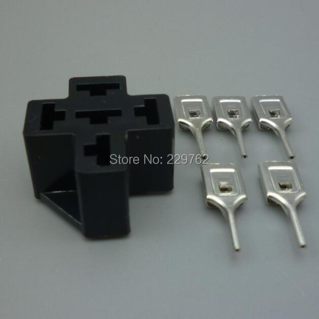 US $7.15 27% di SCONTO|Shhworldsea Automotive Relay Socket 5 Pin SU PCB, per la Serie Titolare 6.3mm terminale Connettore Relè Auto Relè Relè Auto in