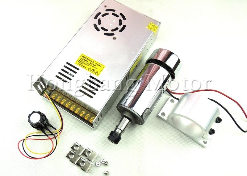 DC12 48V 0 3kw spindle motor ER11 chuck CNC 300W Spindle Motor 52mm mount bracket Power