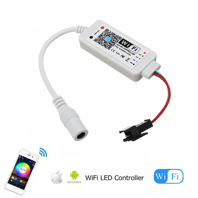 WiFi LED Magic Home Controller Music Smart iOS Android APP for WS2811 LDP6803 SK6812 WS2812B IC Led Pixel Strip light 5V 12V 24V image