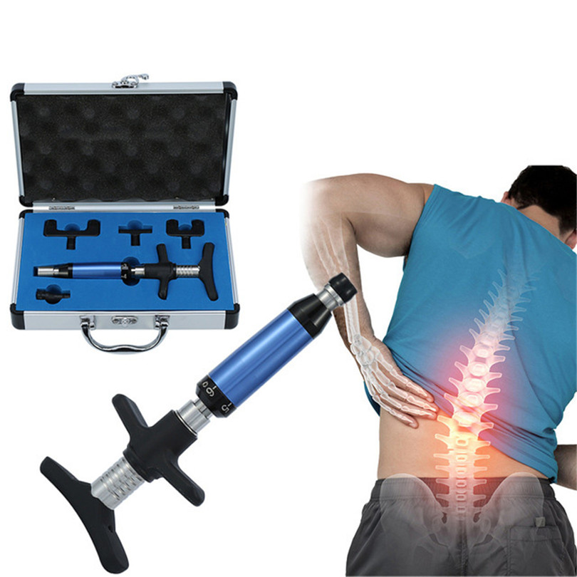 Chiropractic Adjusting Tool Spine Activator Correction Massager Medical Therapy Manual Chiropractic Back Spine Adjusting Tool manual chiropractic adjusting tool 6 levels 4 heads spine impulse back activator therapy backbone corrector instrument massager