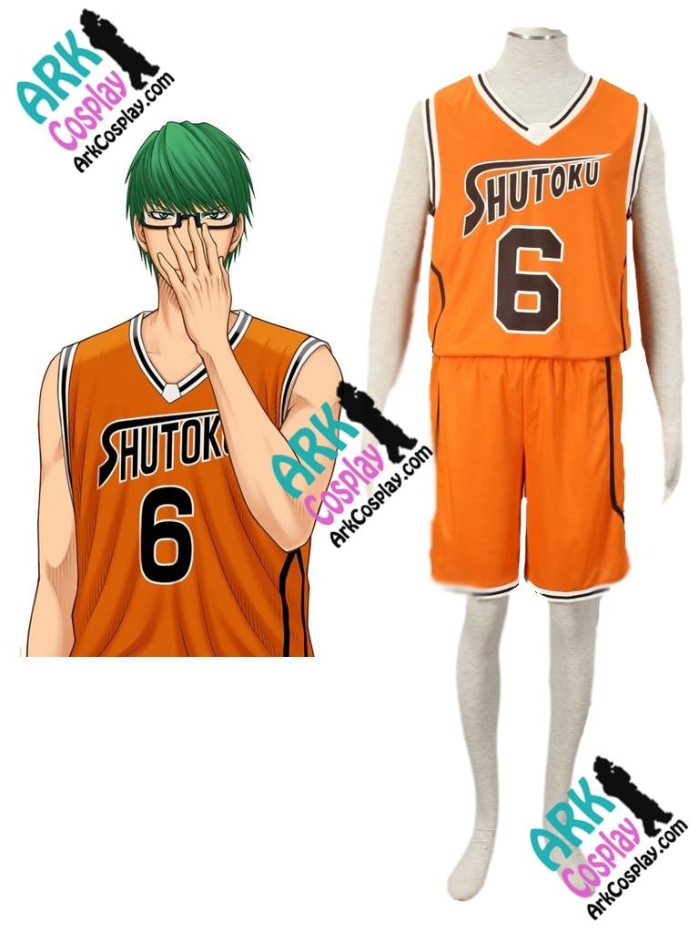 Kuroko no Basket Midorima Shintaro Cosplay Orange No.6 Mens Kuroko no Basket Cosplay  Jersey Costume