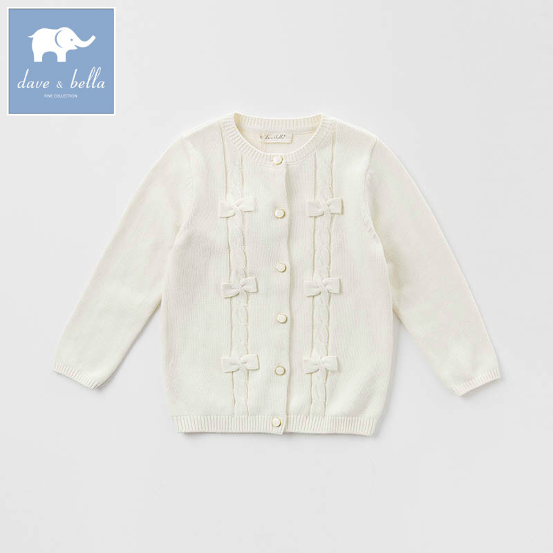 dbe908ad0 DK0719 dave bella autumn kids girls 100% cotton knitted Sweater children  bow printing Cardigan tops-in Sweaters from Mother & Kids on Aliexpress.com  ...