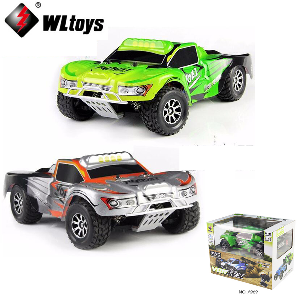 1 set Wltoys A969 1:18 Scale Toys 2.4G 4WD 50km/h RC Drift Short Course Long Distance Control 4-wheel Shock Absorbe игрушка wltoys wlt 18404 4wd 1 18
