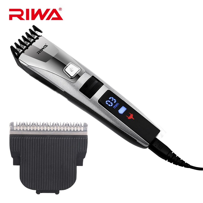 Professional Rechargeable Hair Trimmer LCD Display Clipper Haircut Waterproof Hair Clipper Men Razor Electric Hair Cutter