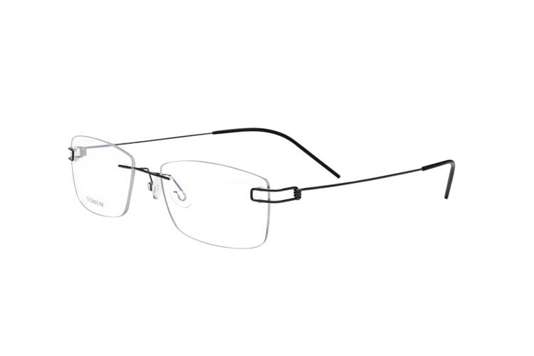 100% Puro Titanio Senza Orlo Occhiali Da Vista Telaio Donne Classici Occhiali Miopia Ottico Oculos De Grau Gafas Nuovo