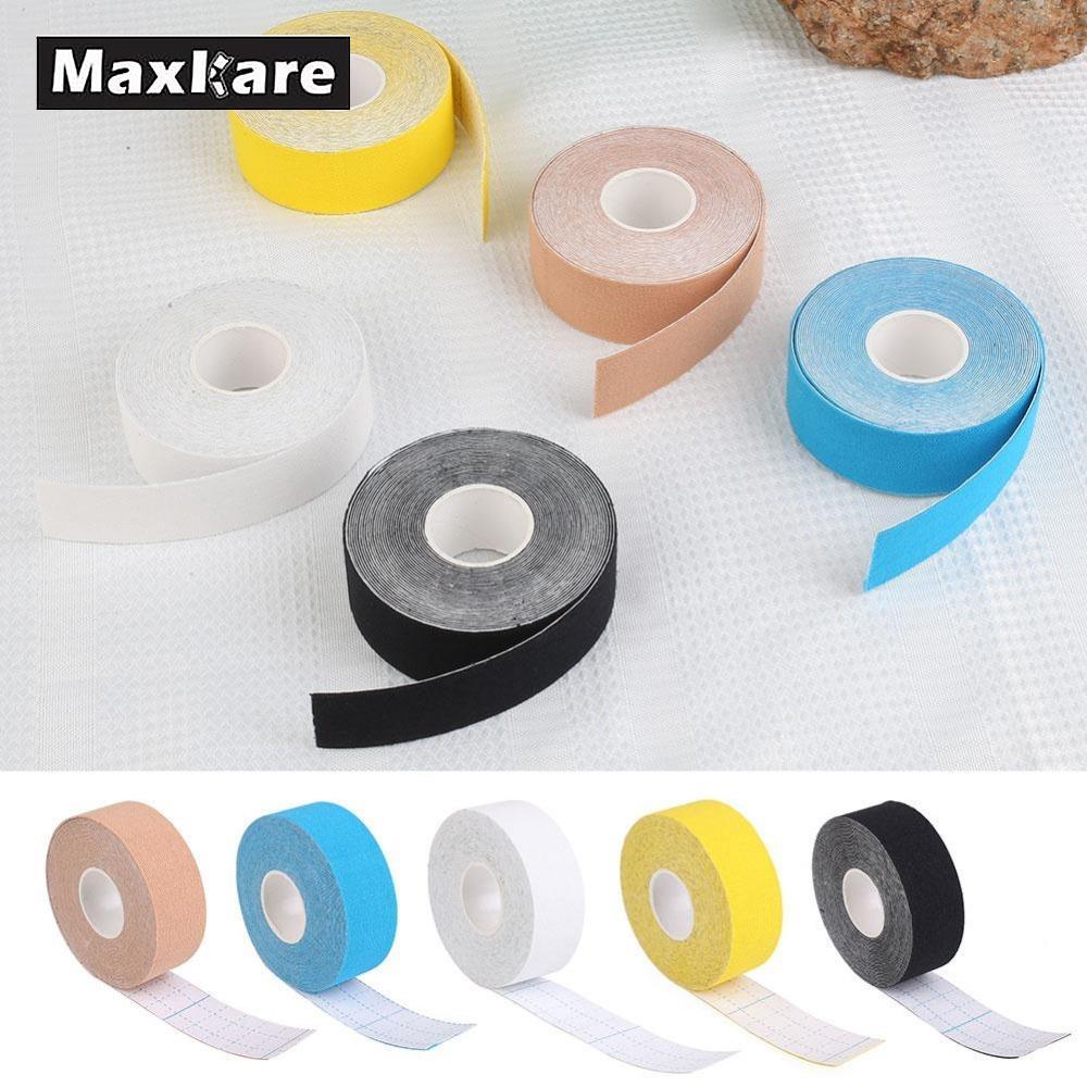 Maxkare 2.5 см x 5 м Спортивной Кинезиологии Клейкие ленты ролл хлопок эластичный клей Мышечные бинты штамм травмы Поддержка мышечные наклейки
