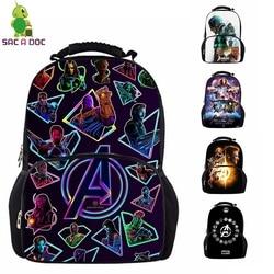 Avengers 17 Cal panie Plecak Student szkoła torby dla nastoletnich torba podróżna Unisex plecaki Plecak Szkolny Mochila Notebook 1