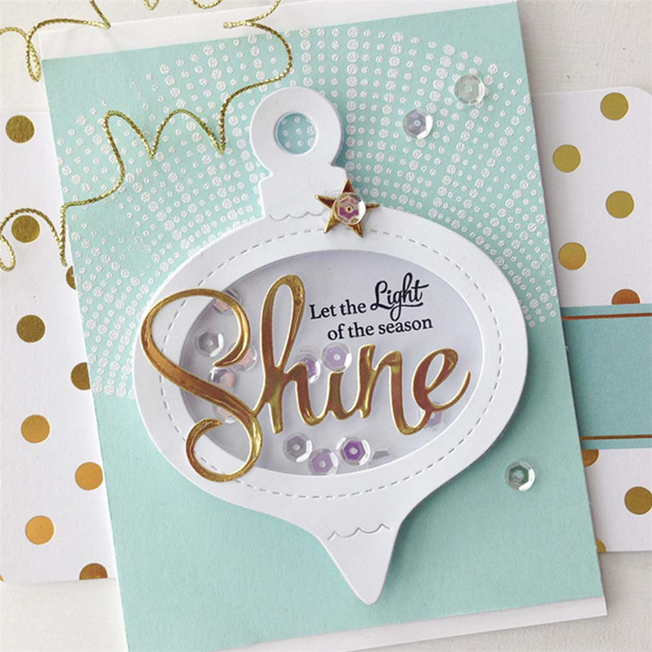 YaMinSanNiO Shine Sparkle Dies New 2019 Word Letter Metal Cutting For Scrapbooking for Card Making Embossing Die Cuts Craft