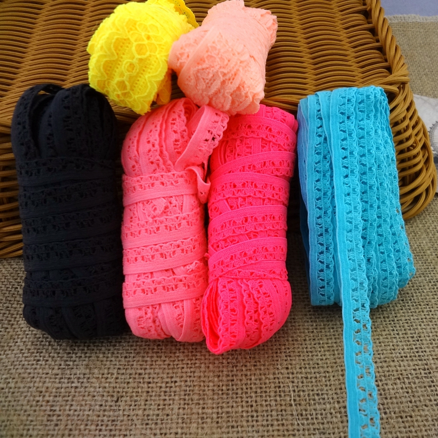 #1105 Special Low Price Lace Elastic Band 8yards/lot Adorn Baby Cloth Skirt DIY Accessory Underwear Handmade Hair Elastic Bands