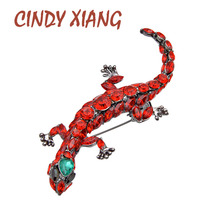 CINDY XIANG New Arrival 3 Colors Choose Resin Lizard Brooches for Women Fashion Large Animal Pins Exaggerated Accessories Gift