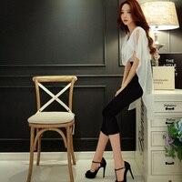 Оригинал 2018 бренд комбинезоны модные Черный и белый цвета ruffleshort рукавом элегантные летние комбинезоны женские оптом