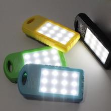 Banco do Poder Pack para o para o Telefone Novidade Arrival Solar Power Bank Dual USB Powerbank 5000 MAH Bateria Externa Carregador Portátil Telefone Móvel