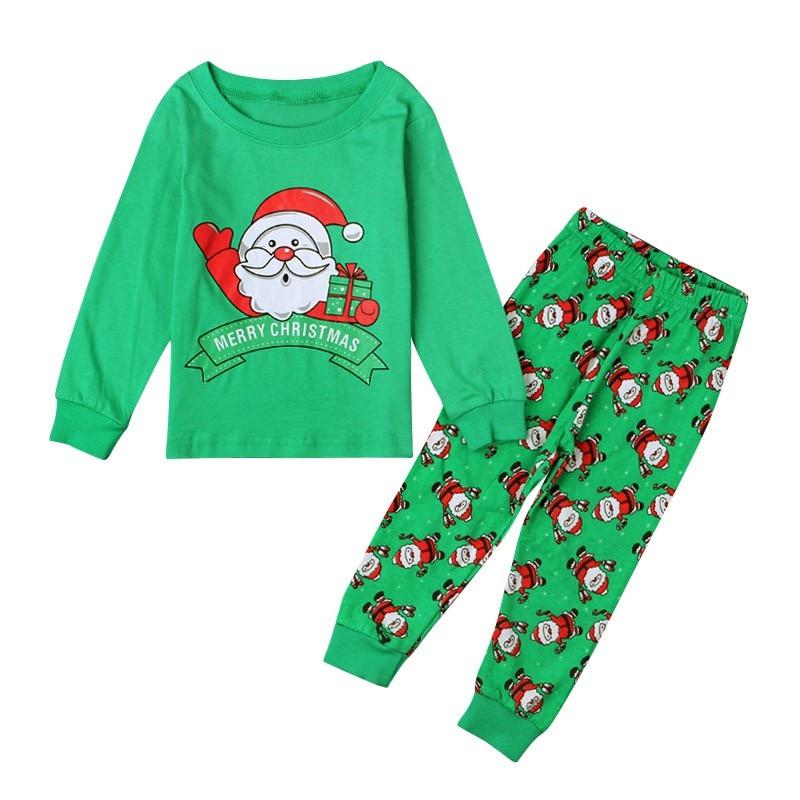 Autumn Spring Winter Christmas Boys Pajamas Set Children Clothing Santa Claus Costumes Baby Pijamas Cotton Kids Sets