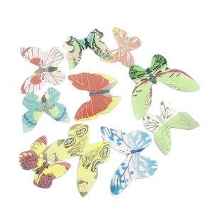 Image 5 - 42 sztuk mieszane motyl jadalne kleisty wafelek z papieru ryżowego Butterfly ciasto Cupcake wykaszarki urodziny tort weselny dekoracji