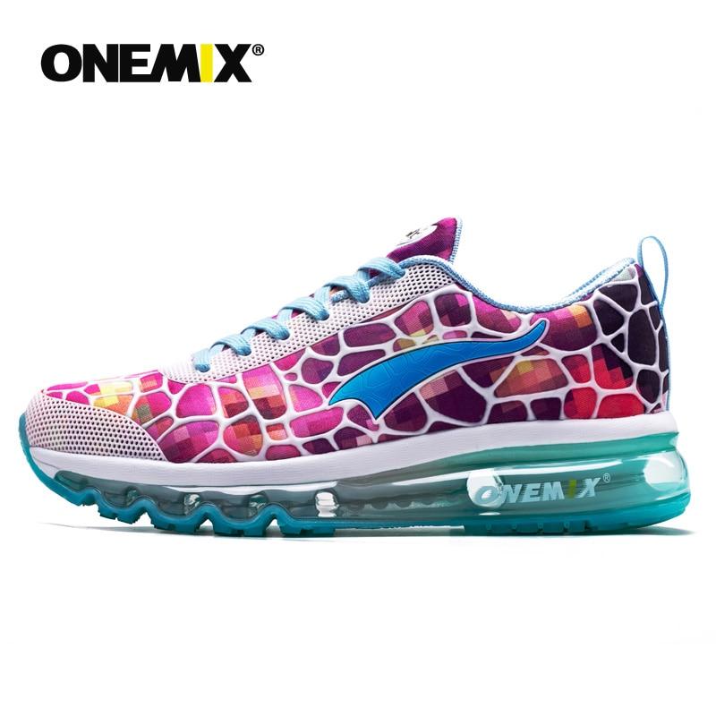 ONEMIX femmes baskets roses femmes chaussures de course pour plein air athlétique jogging randonnée chaussures baskets pour filles gym chaussures femmes N