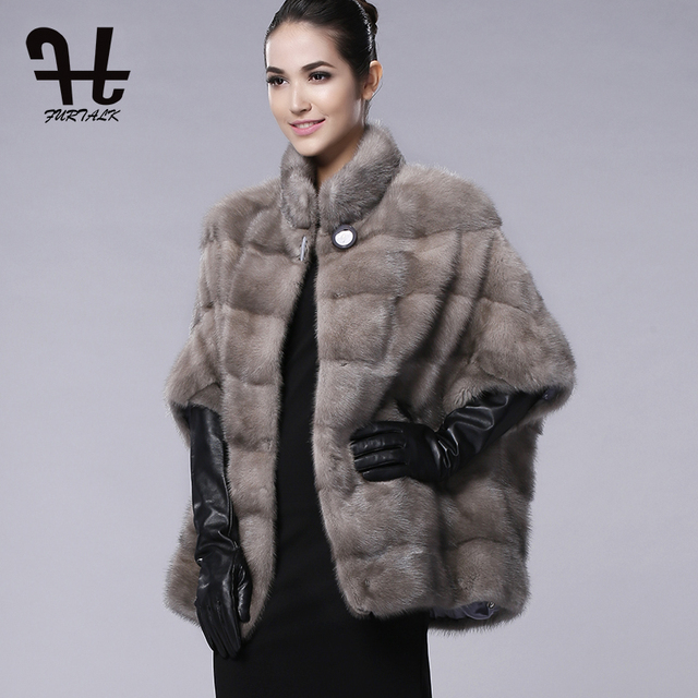 FURTALK brand Russian Winter Womens Real natural mink fur coat for ...