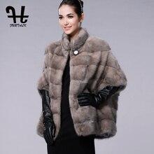 FURTALK Real Fur Coat for Women Luxury Brand Russian Winter Womens Real Natural Mink Fur Coat genuine mink fur vest hot sale