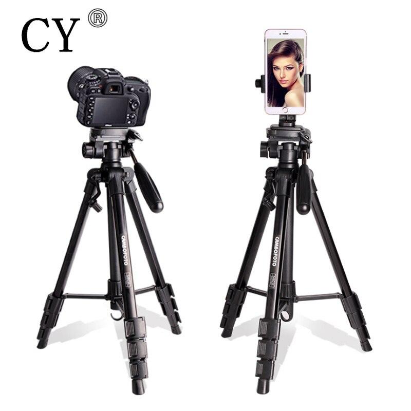 CY haute qualité professionnel trépied photographie monopode pour DSLR caméra Portable léger voyage Tripode Stand JB-SAB234