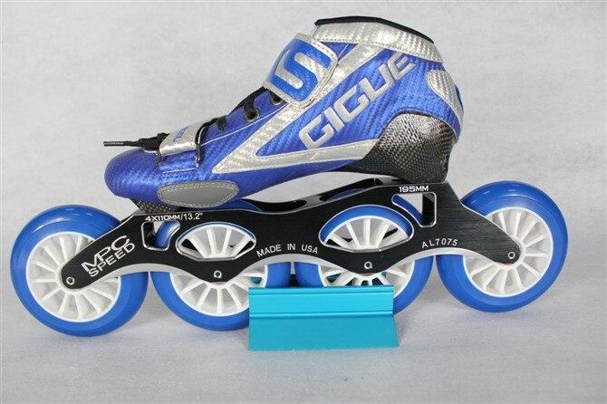 Dewasa laki-laki dan perempuan sepatu tunggal-putaran skating 110mm 88A roda 9b6857ee22