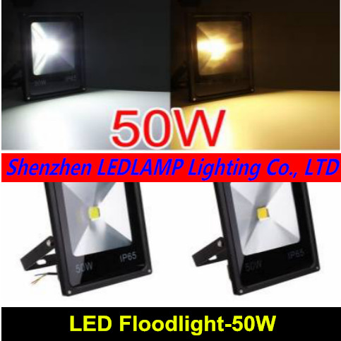 1pcs LED FloodLight Reflector Led Flood Light 50W Spotlight 220V 110V Waterproof Outdoor Wall Lamp Garden Projectors 1pcs lot sh b17 50w 220v to 110v 110v to 220v