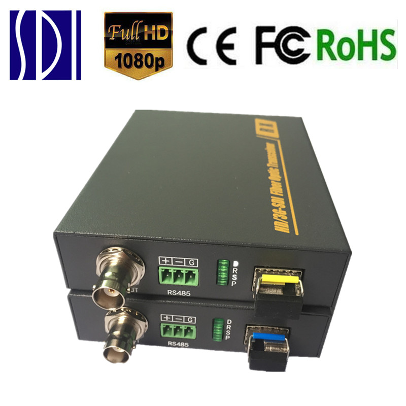 ZY STF501 HD SDI BNC Fibra Media Converter 3G SDI Fiber Optic Video Transmitter font b