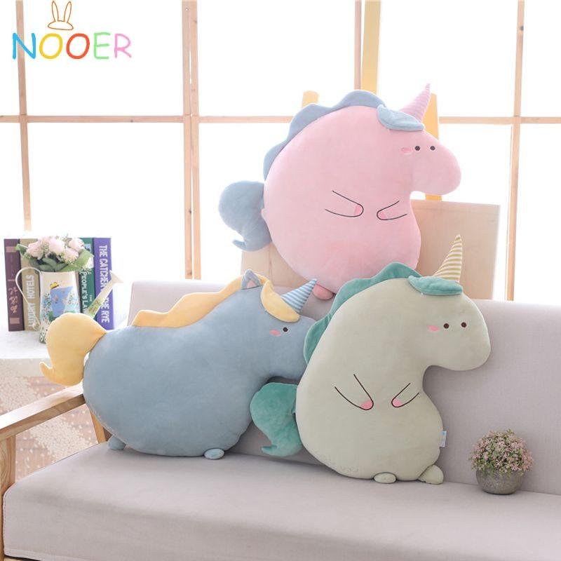 Nooer Soft Unicorn Plush Toy Stuffed Animals Unicorn Soft Pillow Cushion Unicornio Plush Doll Kids Girls Birthday Gift stuffed toy