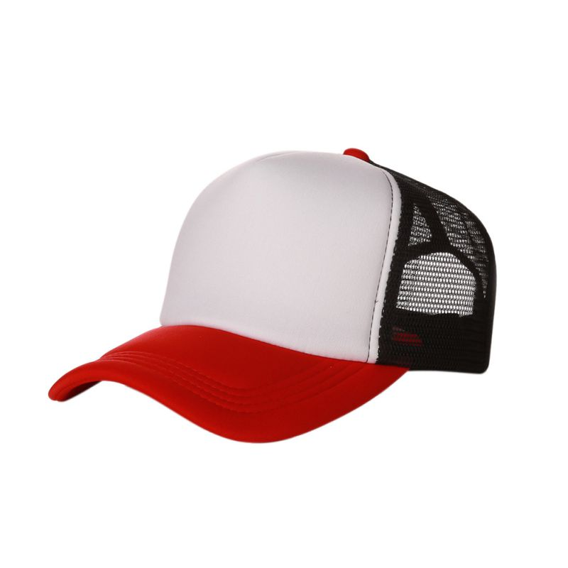 11 Styles Fashion Good-looking New Plain Baseball Cap Solid Trucker Mesh Blank Curved Adjustable Baseball Hat Fashion Cap
