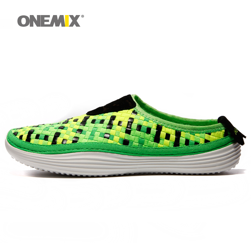 ФОТО Onemix 2016 Women's running shoes breathable weaving walking shoes outdoor candy color lazy Female shoes free shipping 1101