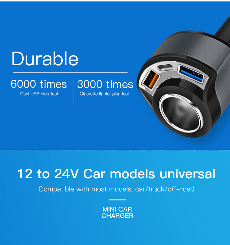 QC 3.0 USB Type C Car Charger (4)