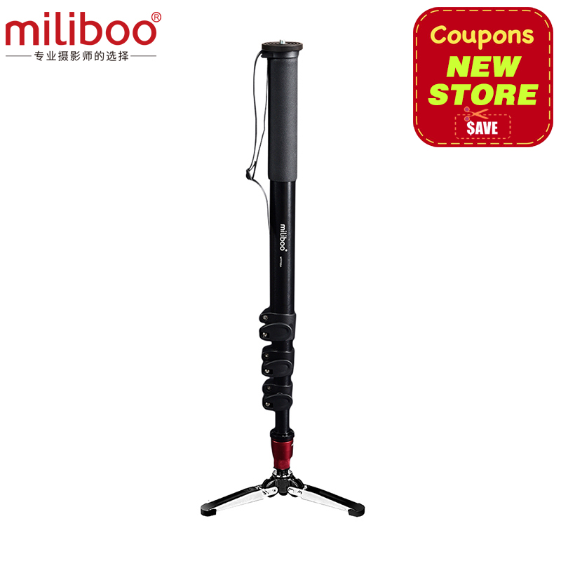 цена на miliboo MTT705A(without head) Portable Aluminium Monopod for Professional Camcorder/Video/Camera/DSLR Tripod Stand