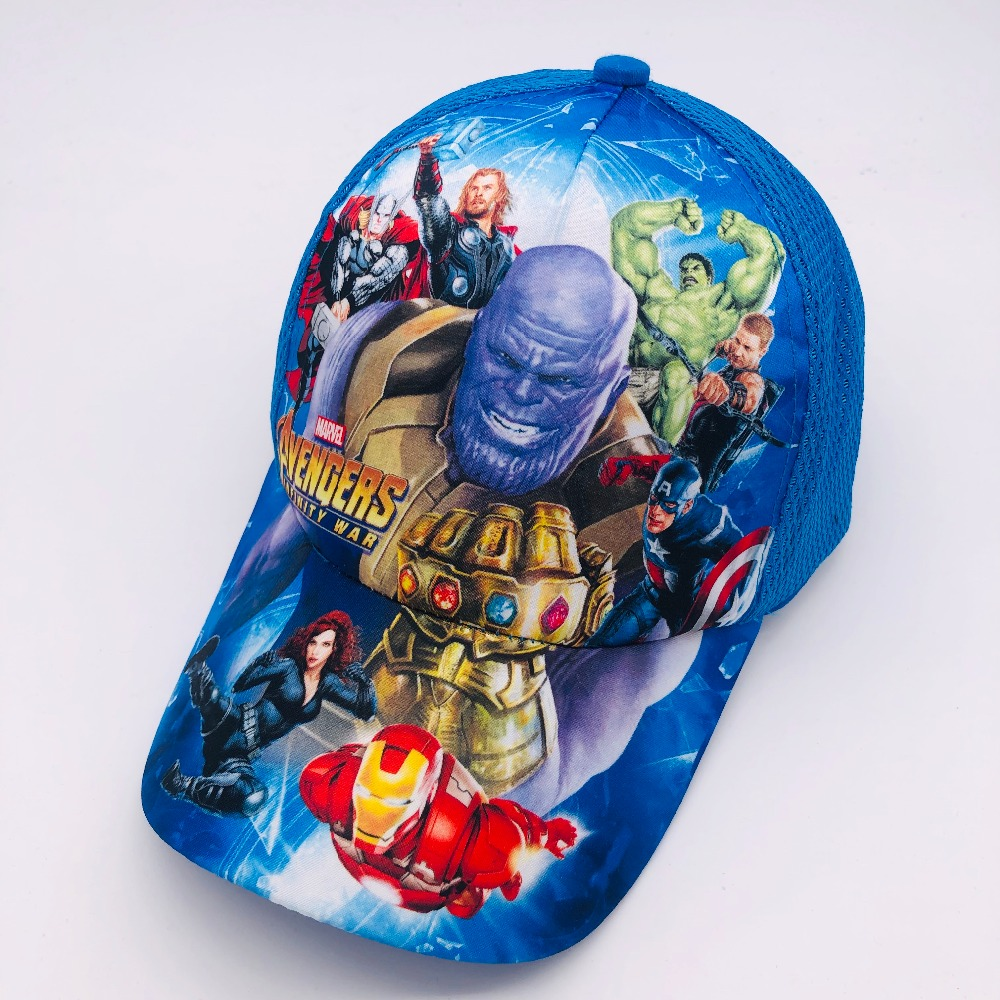 1pcs cartoon boys lovely avengers Fashion Sun Hat Mario Casual Cosplay Baseball Cap children party gifts