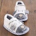 Zapatos del niño de Primavera Y Otoño Masculino Y Femenino Del Bebé Zapatillas de Algodón Zapatillas de Invierno 2016 Nuevo Invierno Niño Zapatos Calientes WMC210