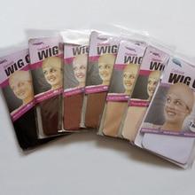 60 adet (30 Packs) peruk yapımı için Stocking peruk kap Snood naylon streç Mesh Net 2 adet/paket 7 renkler dokuma kap