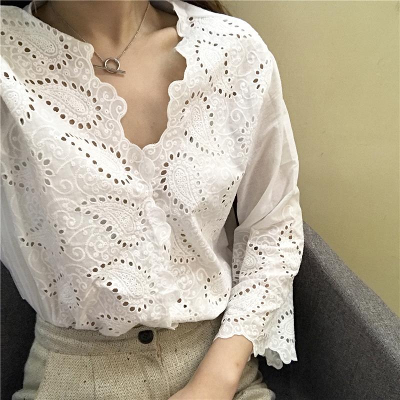 Popular Beautiful White Blouses Women-Buy Cheap Beautiful White ...