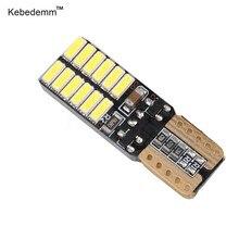 Kebedemm 2 12V 24SMD T10 pçs/lote Super Brilhante Lâmpada LED Car Wedge Light Bulb Lamp Car Luz Da Placa De Licença Automática