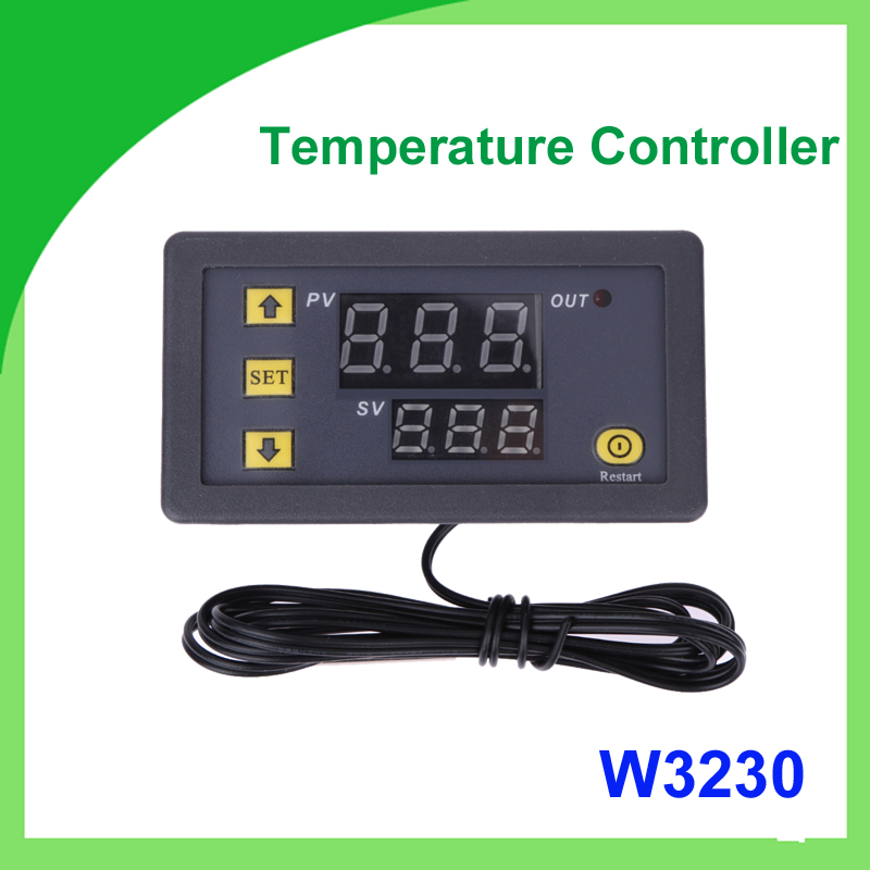 20A 12V Digital Thermostat Temperature Controller W3230 Regulator Heating Cooling Control Thermostat Instruments in Switches from Lights Lighting