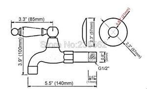 Image 2 - שחור שמן שפשף פליז יחיד קרמיקה ידית בריכת סמרטוט ברז קיר רכוב אמבטיה מכבסה Mop מים ברז tav117