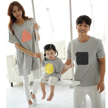 T-shirts summer mother mommy and me daughter father son kids baby  matching family outfits clothing family look  short sleeves