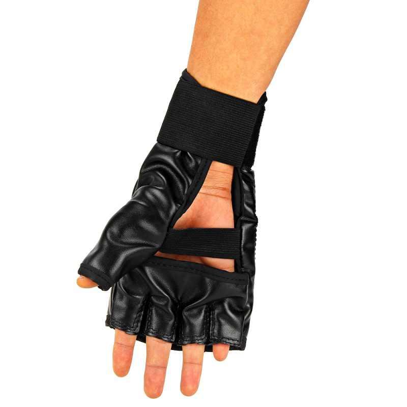 بولي Leather قفازات ملاكمة جلدية الرياضة الرجال نصف الاصبع الملاكمة التايلاندية قفازات MMA ركلة الملاكمة التدريب الملاكمة قفازات التكتيكية 1 Pair