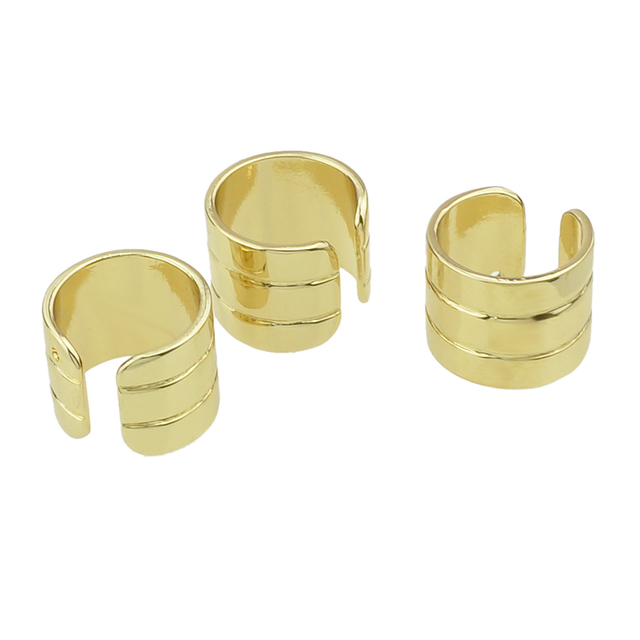 Cuff ring set. Gold color