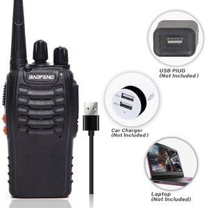 Image 2 - 2 قطعة Baofeng BF 888S لاسلكي تخاطب USB محول للشحن راديو محمول CB راديو UHF 888S Comunicador الإرسال والاستقبال 2 سماعة