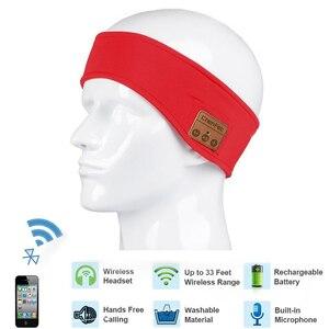Image 5 - רך Bluetooth סרט כובע סטריאו אוזניות מוסיקה אוזניות שינה אוזניות כובע ספורט בגימור עם מיקרופון תשובה שיחה עבור iPhone