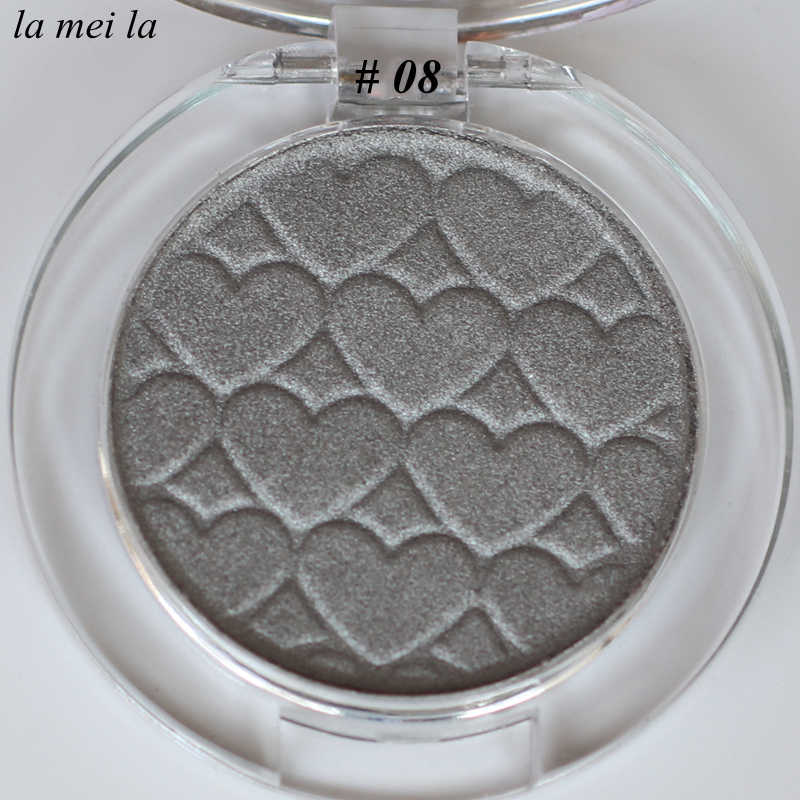 2019 Hot Sale New Eye shadow Makeup Super Shocking Lasting Waterproof Monochrome Flash Silver Grey Eyeshadow 08#