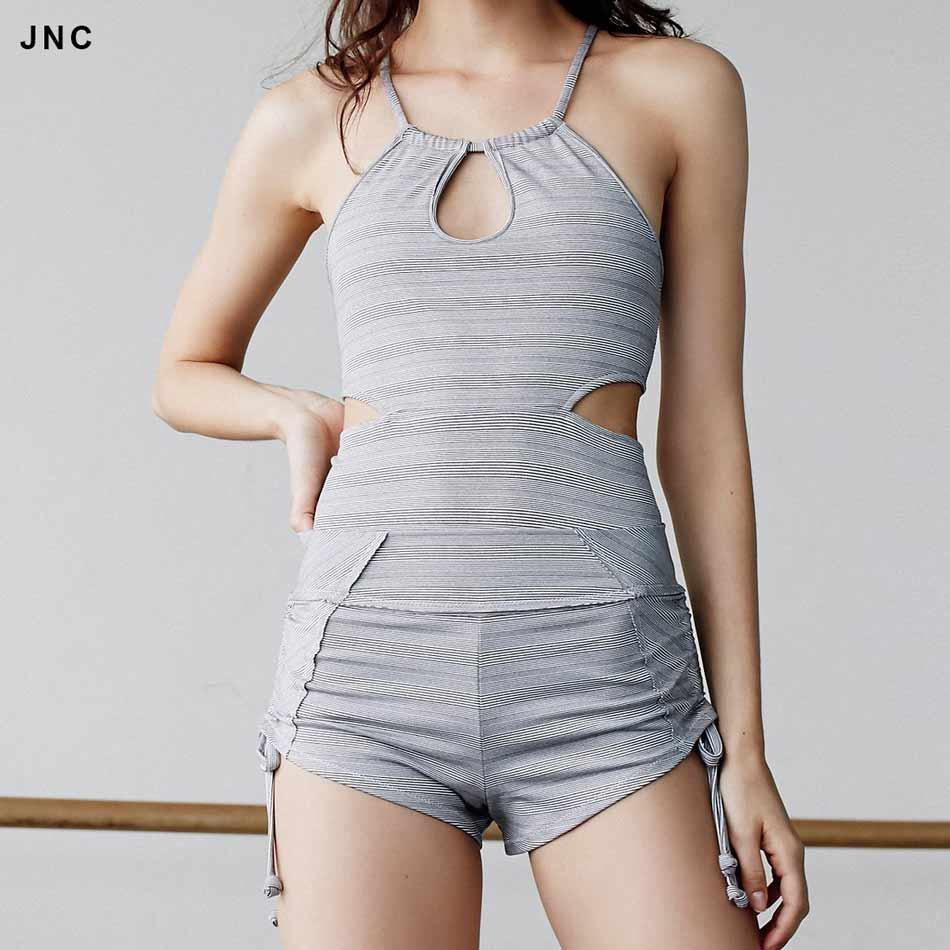 Activewear Side String Shorts Side Ties Sports Yoga Shorts Banded Waistband Shorts Hot Elastic Dancing Shorts