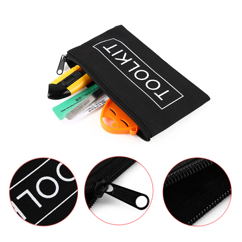 Tool Sets 1pc Black Waterproof Oxford Cloth Practical Durable Unisex Zipper Storage Instrument Case Pouch For 600d Tools Set Bag Hand Tool