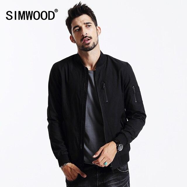 SIMWOOD brand clothing 2019 NEW Spring Winter Windbreaker Men Coat bomber jacket cotton coats men WJ1648