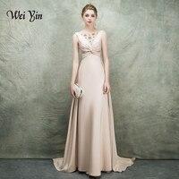 Вечернее платье weiyin De Soiree сексуальное атласное вечернее платье 2018 длинные платья для выпускного вечера вечернее Формальное вечернее плать